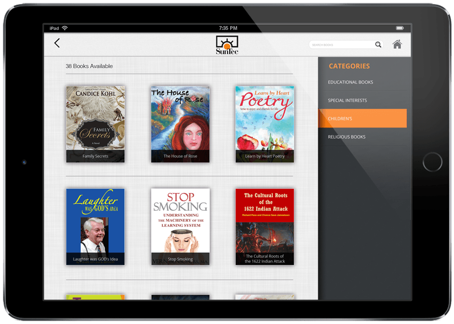 eBook Catalog App for Publishers by SunTec Digital